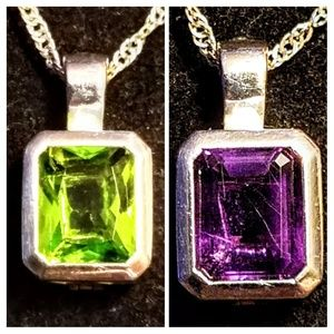 Vintage interchangeable peridot and amethyst